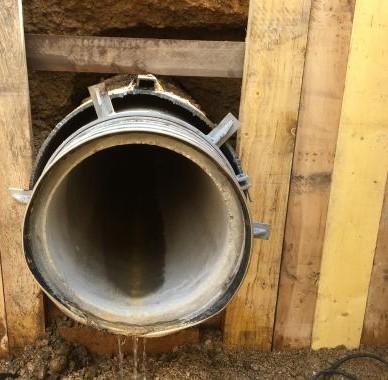 Forage horizontal-béton-jamme kleber