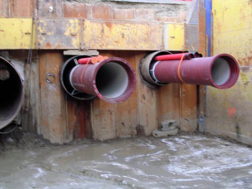 forage horizontal-enfilage conduite-fonte-acier