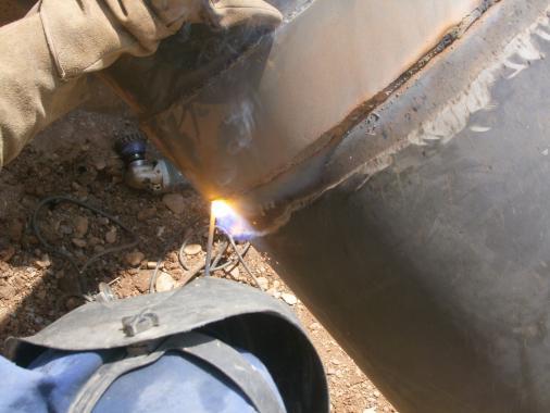soudure-acier-forage horizontal-baguette